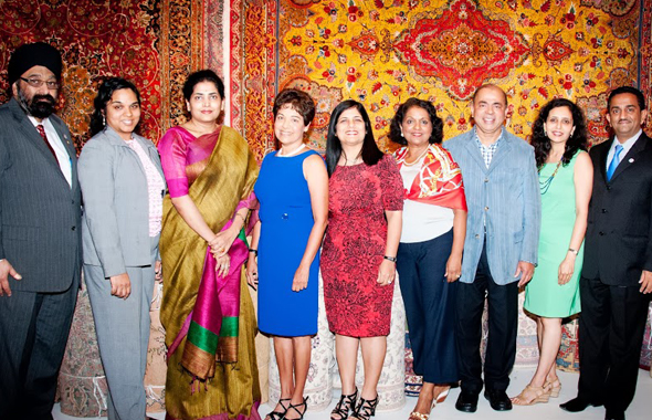Organizers, guests and speakers.   Photos: Bijay Dixit
