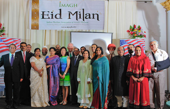 The IMAGH Board, guests and speakers on the stage after the event. Photos: Mustansir Mandviwala