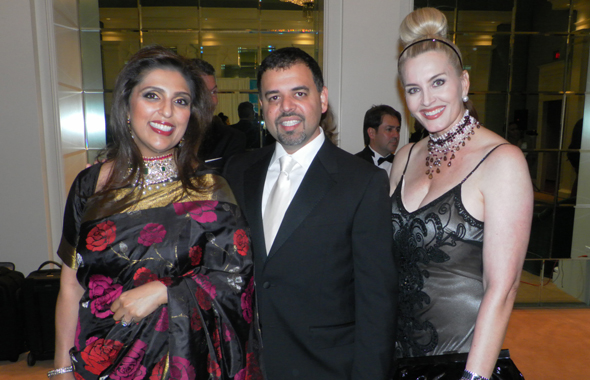 Nidhika and Pershant Mehta pose with Board Director Kimberley DeLape.