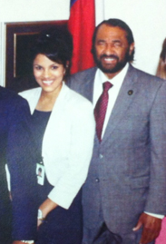 Krystal Joseph with Us Congressman AL Green during her summer internship at his office in Washington, DC.