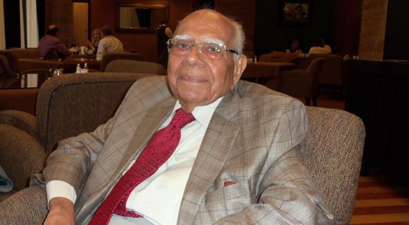 Member of Indian Rajya Sabha Ram Jethmalani.Photo: Jawahar Malhotra