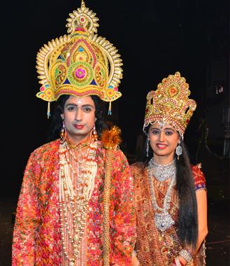 Vipin and Kusum Sharma as Ram and Sita.