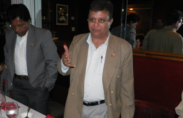 Indian Consul Anil Matta thanked his hosts at the farewell dinner for him at Ashiana restaurant on Tuesday, November 5.