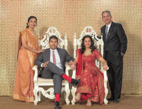 The newly weds with Shashi and Harish Jajoo.