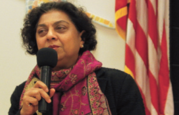 iEducate President Dr. Roopa Gir spoke about the beginnings and goals of the program.