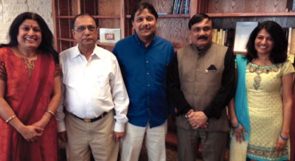 From left: Falguni Gandhi, Treasurer; Harshad Patel, Vice President; Chandrakant (Charlie) Patel, President; PV Patel, Past President and Manisha Mehta, Pro Tem Secretary.
