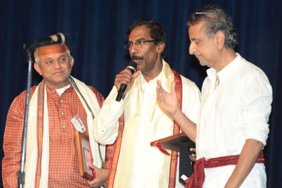 From left: Tupil Narasiman, Dr. Vaduganathan, Dr. Ranga.