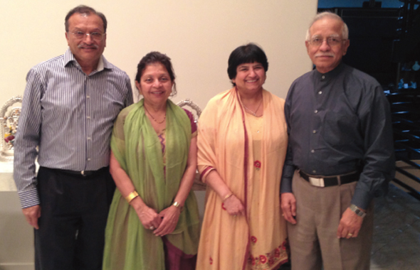 From left: Dr. Dinesh and Kalpana Patel with Vijay and Ashok Dhingra.