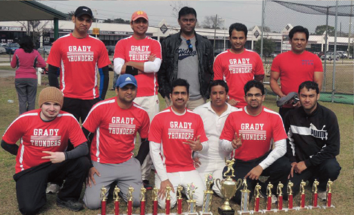 TCC Winter 2013: the runner up team Grady with the Chief Guest, Venky Rao.