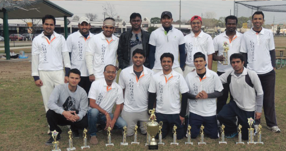 TCC Winter 2013: the winning team Cougars with the Cheif Guest, Venky Rao.