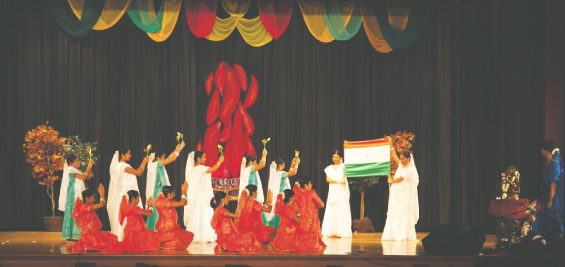 "Dancers performing to song ""Des Rangila"""
