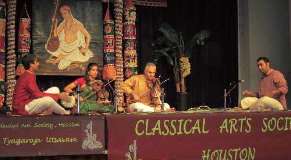Violin Duet, from left: Karun Salvady, Deepa Ramachandran, Mahesh Iyer, Ganesh Balasubramanian.