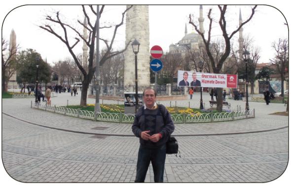 Jawahar Malhotra at the Obelisk in the Hippodome in Istanbul