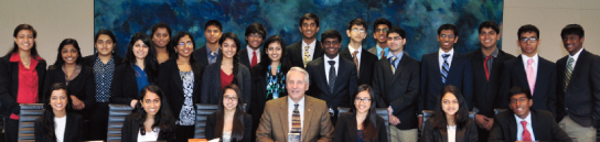 Dr. Robert Ivany (center) with students (above) and YLDP volunteers (below).