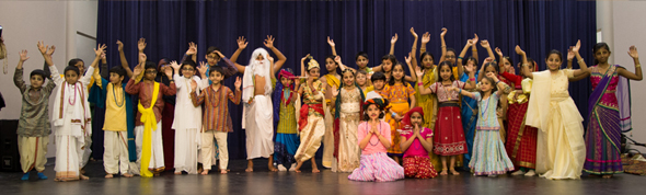 Sunday school children acted in Gaura lila drama.                                                                                                                                           Photos: Thejas K R / Nagaragu Nagalla