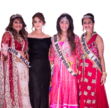 Miss Bollywood Pageant winners with Preity Zinta.
