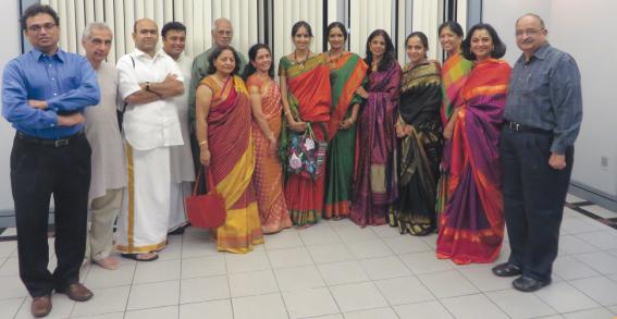 Ranjani-Gayathri with Classical Arts Board members