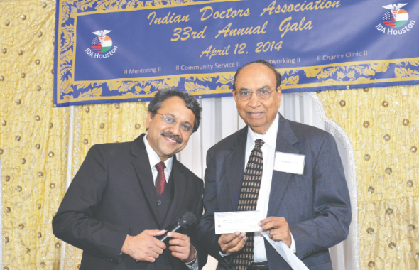 $10,000 donation to The Indian Doctors Charity Clinic