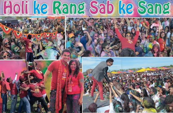 Record Breaking Crowd At The Masala Radio Holi Indo