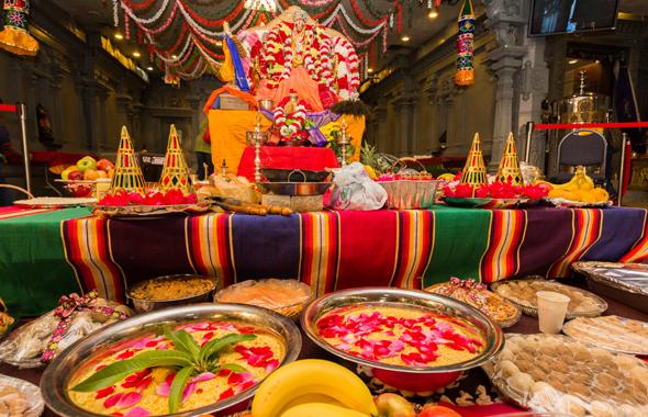 Beautifully laid out Seer varisai for Sita Rama Kalyanam at Meenakshi temple