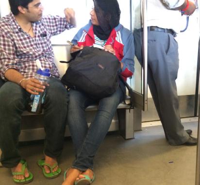 Boy meets girl in the Metro