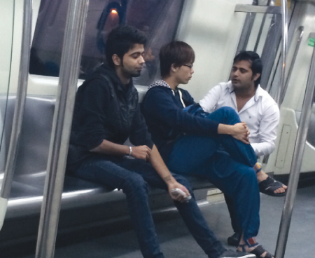 Hassling a Japanese tourist in the Metro