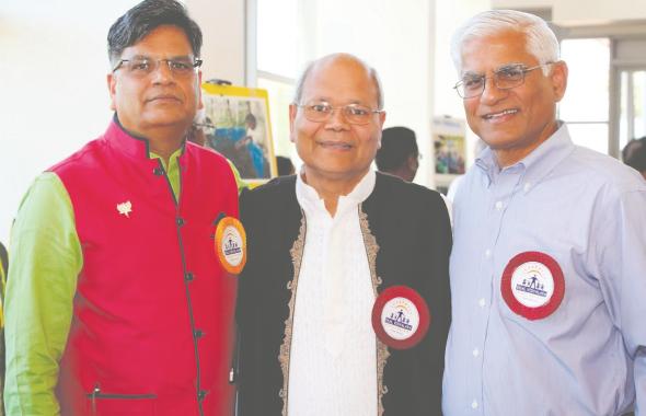 From left: Jugal Malani, President India House, Subhash Gupta, Chairman of the Ekal USA Board, Ashok Danda, Past President of Ekal USA