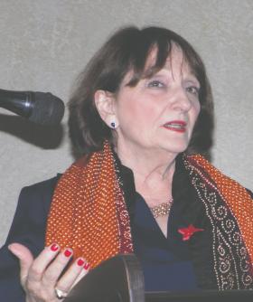 Visiting Judge Carolyn Garcia was the keynote speaker at the SOS graduation on Friday, May 9.