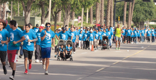 Over 900 walkers of all ages at the BAPS Charities walk
