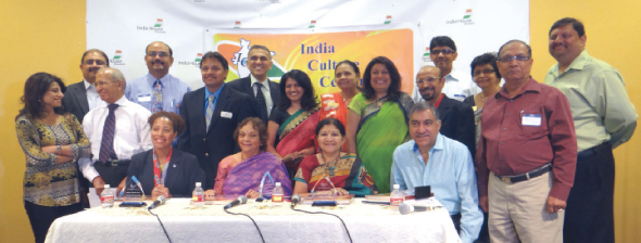 The Board members and Trustees of the India Culture Center with the speakers and panelists (at table, from left) Dr. Reagan Flowers, Leela Krishnamurthy, Rathna Kumar and Bobby Singh at the Leadership Conference held at India House on Saturday, June 7.                            Photos: Jawahar Malhotra