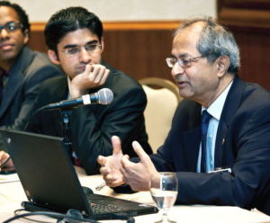 Dr. Ramaswamy Viswanathan (right), recently spoke at a conference on the mental health of Indian Americans in New York. (psychiatryonline.com photo)