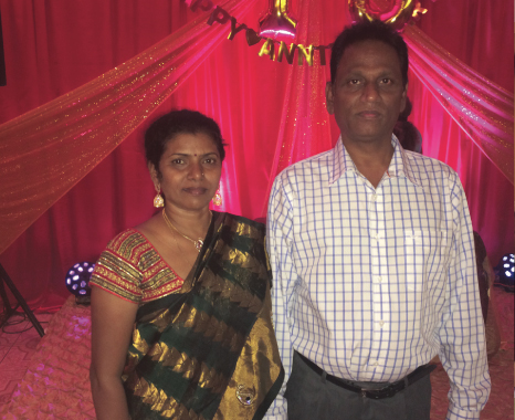 Dayaker Reddy with his wife Suneela welcomed guests to the restuarant's 10th Anniversary party.        Photos: Jawahar Malhotra