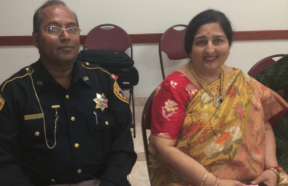Anuradha Paudwal with an admirer Ajit Kumar Ahluwalia