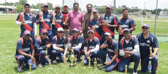 TCC Spring 2014, Spartans Winners with Chief Guest Surya Saladi.