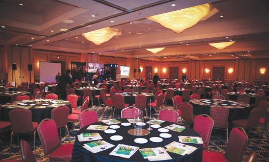 The venue at the Westchase Marriott Hotel was tastefully and elegantly decorated for the 400 guests that attended.
