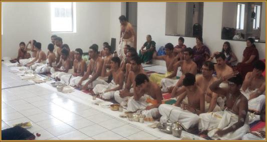 Aavani Avittam at Sri MTS with many youngsters doing Upakarma.Photos : S. Narayanan and M.K. Sriram