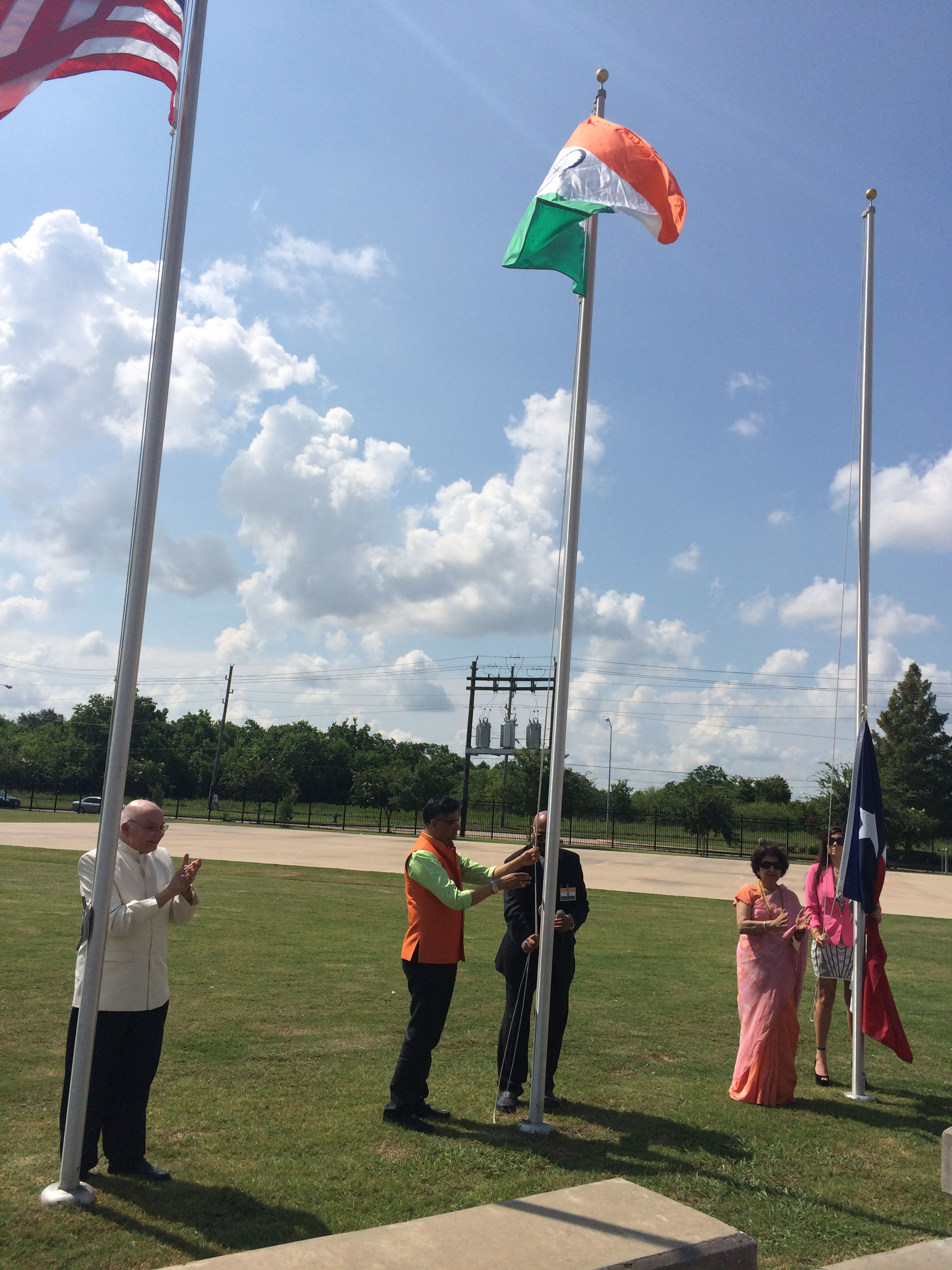 The Flag hoisting ceremony