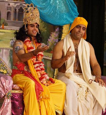 Krishna and Sudama leela