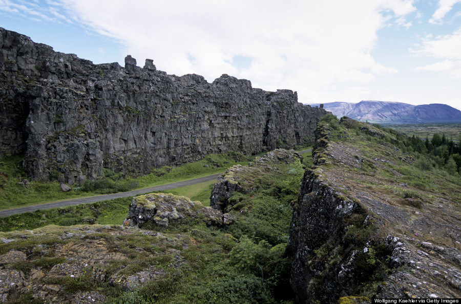 Iceland, Golden Circle, Thingvellir, Volcanic Fissure (site
