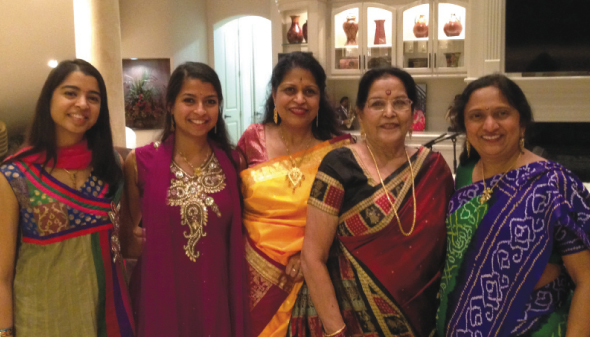 From left: Renuka and Rohini – granddaughters, Soumya Rege – mother, Aarti Mishra - grandmother, and Upma Shah.