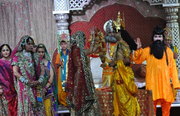 Ram and Sita Vivaah (wedding) scene.
