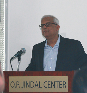 Pradeep Anand during his talk