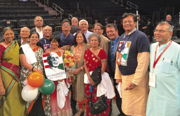 The delegation of Houstonian community activists, who worked for the Modi campaign this past summer, went to hear Indian Prime Minister Narendra Modi give his speech to the public at Madison Square Garden.