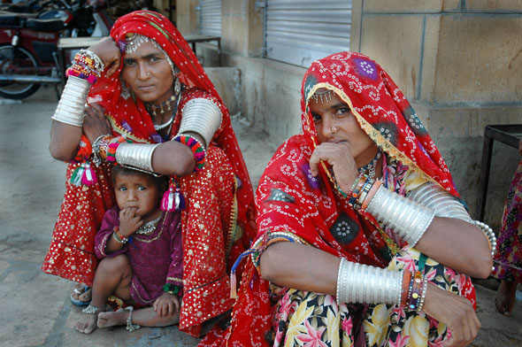 Women of Rajasthan In India.
