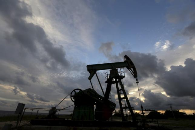 An oil pump of Cuba's state-run CUPET is pictured near the coast in Mayabeque province