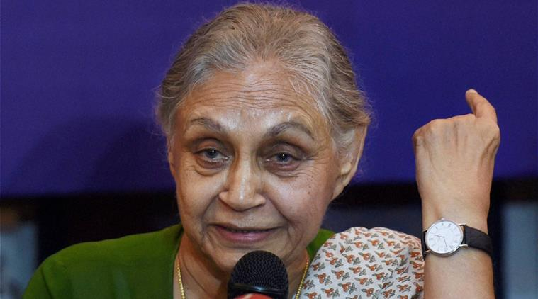 Sheila Dikshit at Women's Press Corps