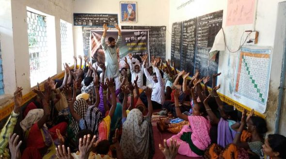 Voices from within: Members of the Pahadi Korba tribe at a workshop in Gitkalo village in Chhattisgarh.