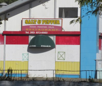The defunct Salt & Pepper Indian-Pakistani-Halal restaurant in Bridgeport, CT is stands by the Seaside Park