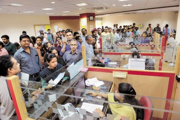 The banking sector received cash deposits worth Rs12.4 trillion in the month till 10 December, after the government's demonetisation move. Photo: Hemant Mishra/Mint