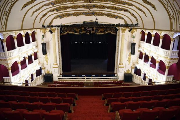 Royal Opera House was closed in 1993, and sat crumbling for years. It was put on the World Monuments Fund list of endangered buildings. Photo: AFP